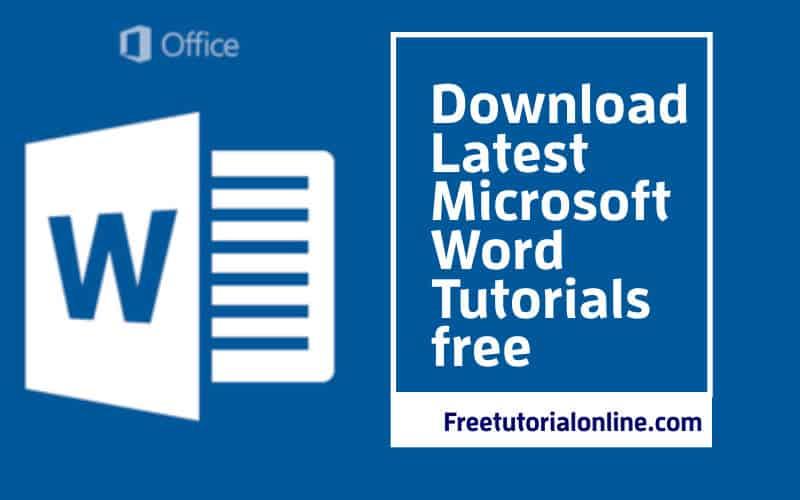 free-tutorial-online.com-download latest-microsoft-word-tutorials-free-