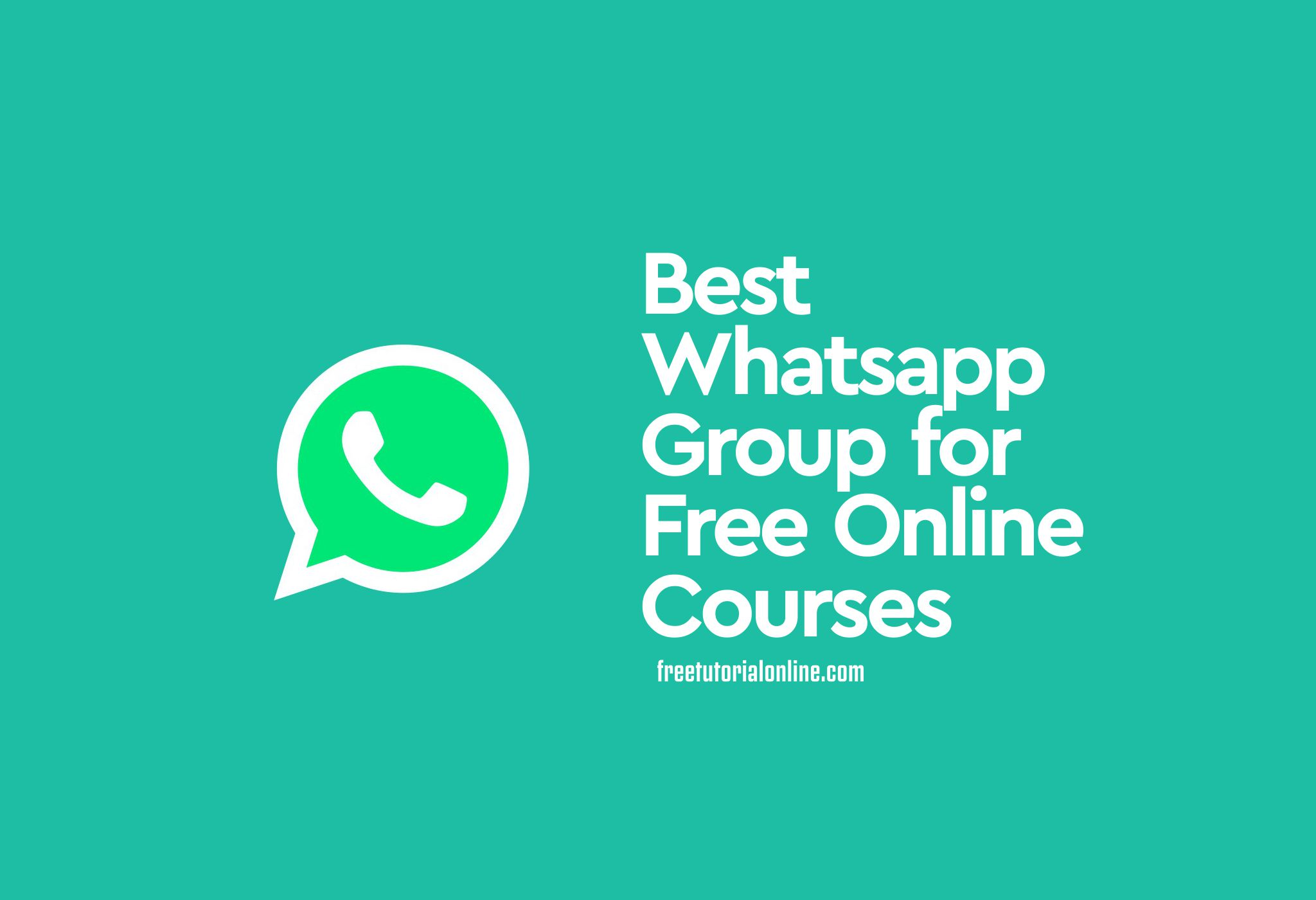 best-whatsapp-groups-free-online-courses
